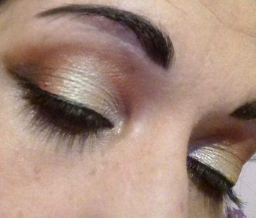 Night cut crease makeup