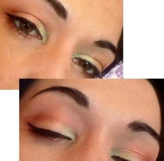 Rainbow summer makeup