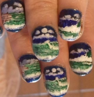 Seascape nails 2018