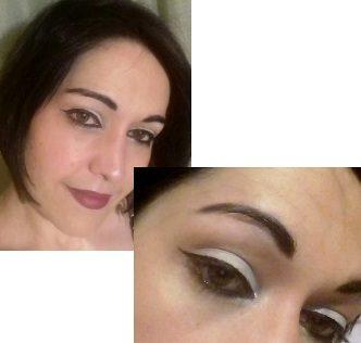 White night makeup