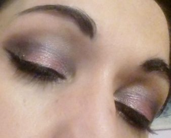Dark summer makeup