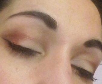 Soft red and butterfly makeup