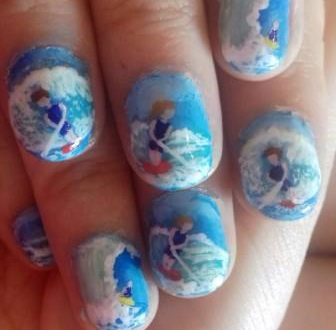 Water skier nails