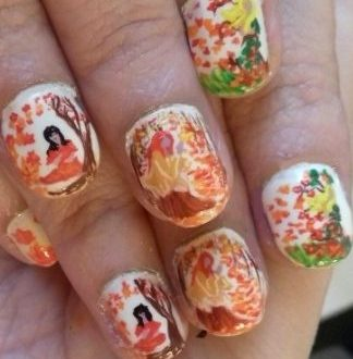 Fall equinox nails