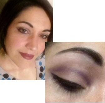 Soft violet cut crease makeup