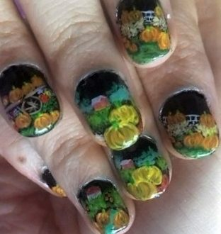 Pumpkins farm nails