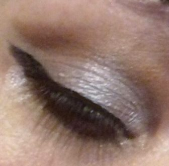Silver and brown makeup