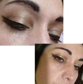 Triple wings eyeliner makeup