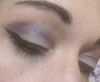 Romantic purple makeup