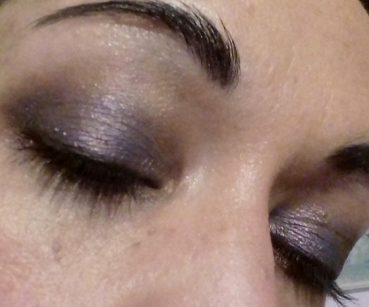 Violet holo makeup