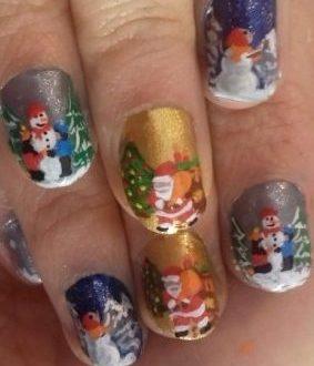 Sweet Xmas nails