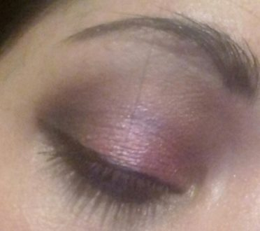 Pink and purple makeup