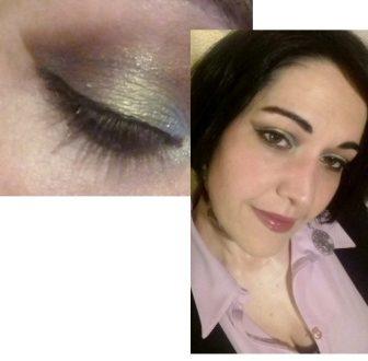 Deep luminous night makeup
