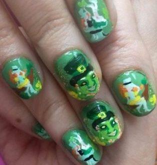 St. Patrick symbols nails