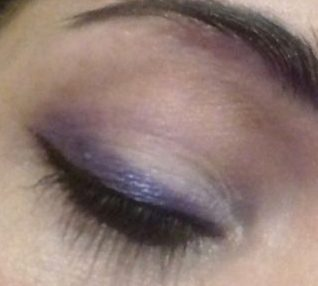 Smokey purple graphic makeup