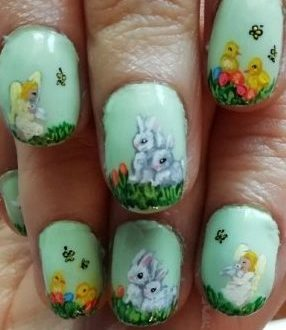Easter painting nails