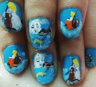 Violinist sea nails