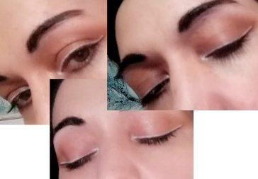 White line makeup