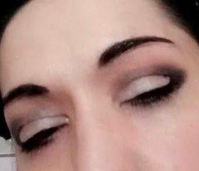 Half moon makeup