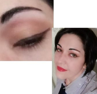 Double brown eyeliner makeup