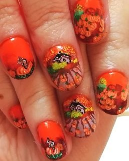 Pumpkins harvest nails