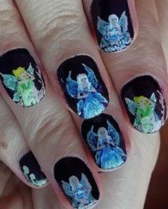 Night fairy nails