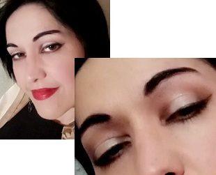 Elegant holo makeup