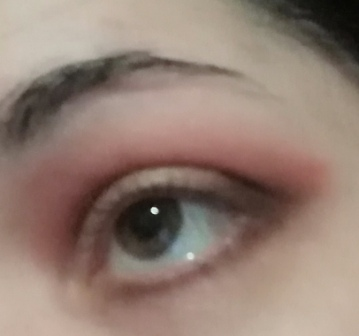 silver and red makeup