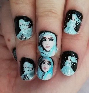 Winter goddess nails