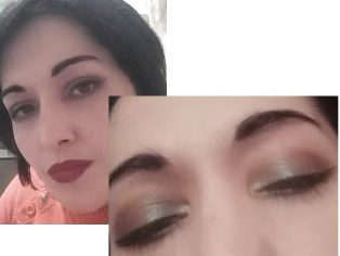 Green elegant eyes makeup