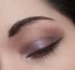 violet makeup look