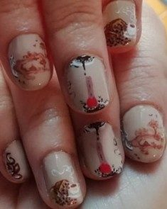 Coffe nail art