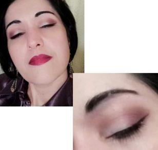 Trucco occhi bianco e viola