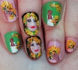 Women's day nails