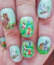 Sweet easter nail art
