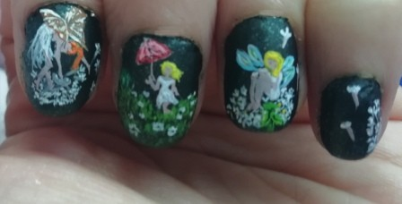 DANDELIONS FAIRIES NAIL ART