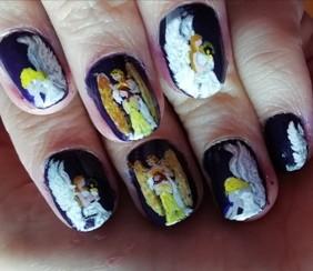 guardian angel nail art