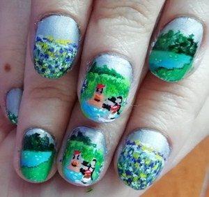 picnic spring nails