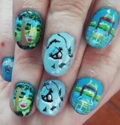 Surrealism nails painting