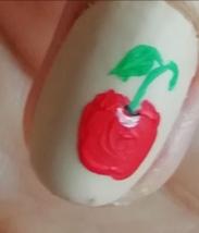 cherries nail art