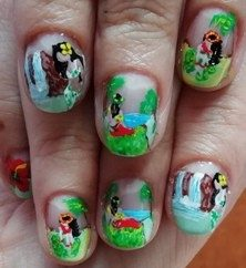 Tahiti girls nails