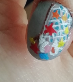 shells nail art