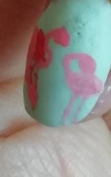 sweet flamingos nails