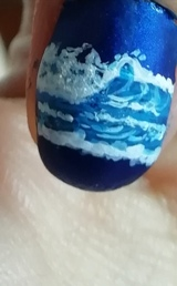 night seascape nails