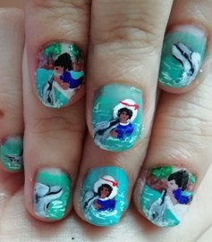 dolphin and human nails