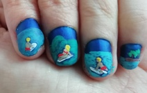 surfing nail art