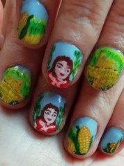 Corn cob painting-grano