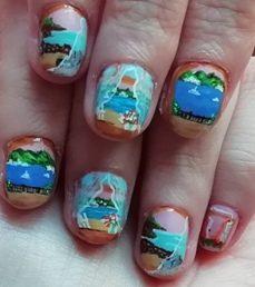 Window seascape nails
