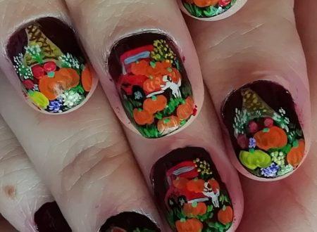 Little pumpkins nails