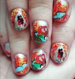 Autumn pretty nails